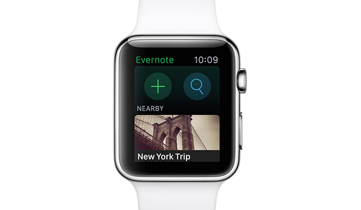 Evernote brengt Apple Watch-applicatie uit
