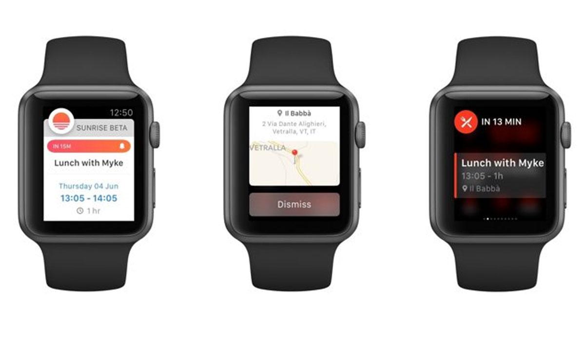 Sunrise Calendar krijgt Apple Watch-ondersteuning