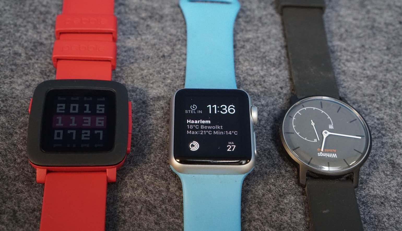 Meer smartwatches dan Zwitserse horloges verscheept in 2015