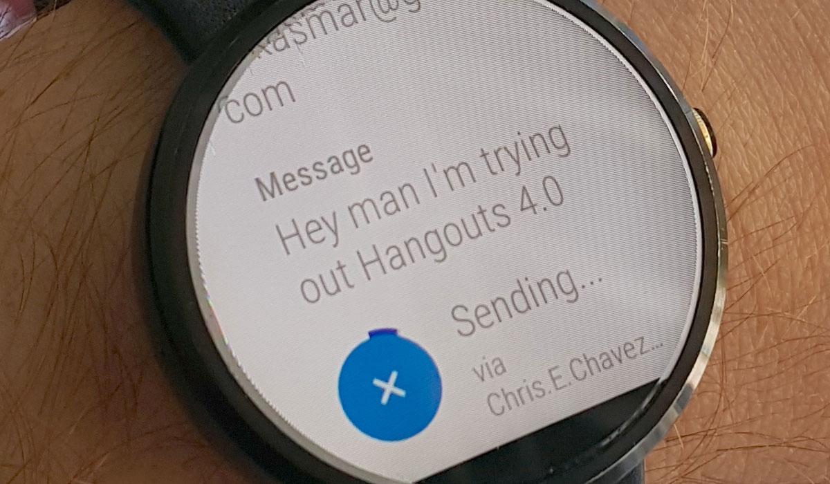 Dicteer berichten met Google Hangouts 4.0 op Android Wear