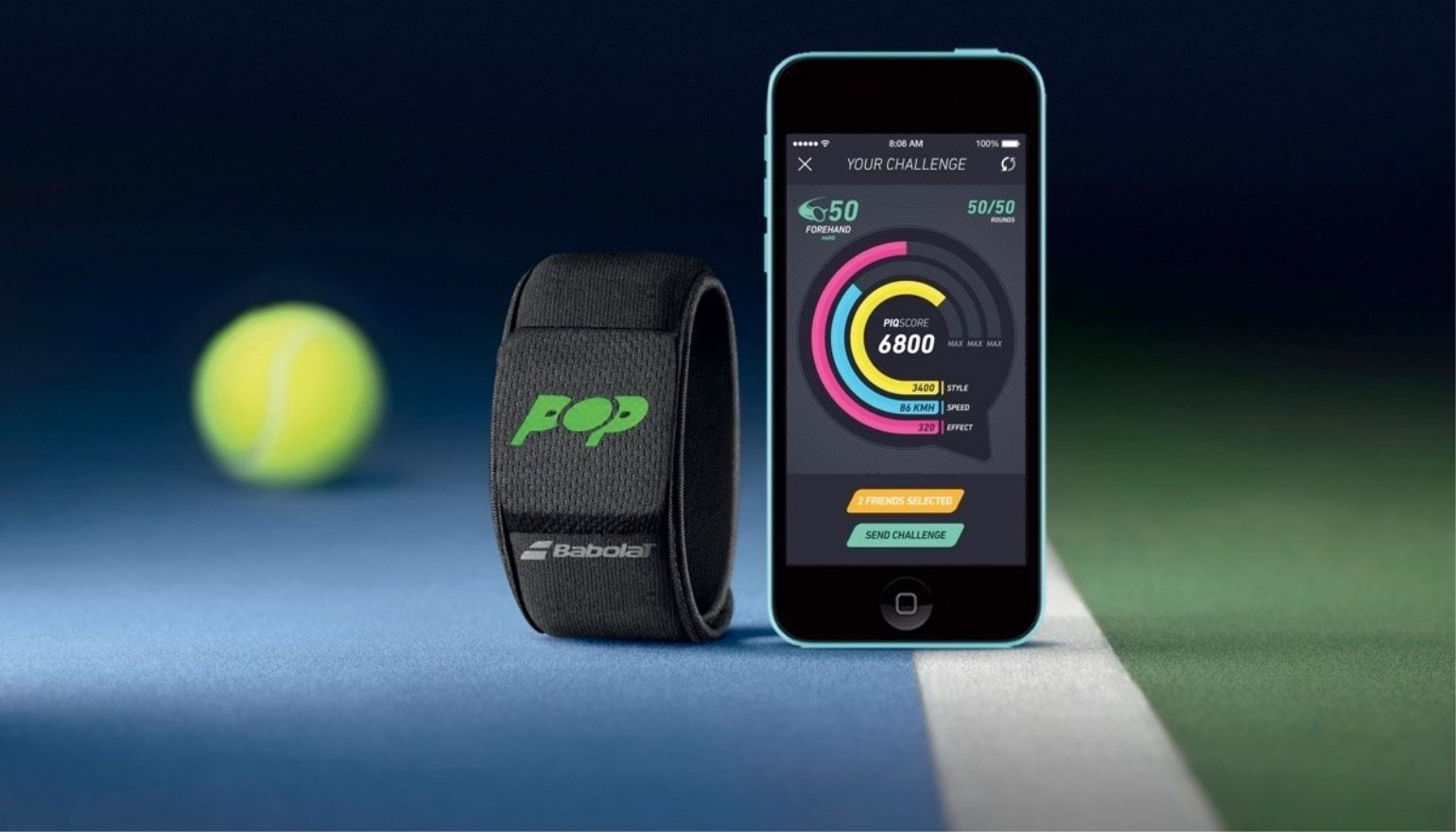 Babolat en PIQ introduceren Tennis-wearables