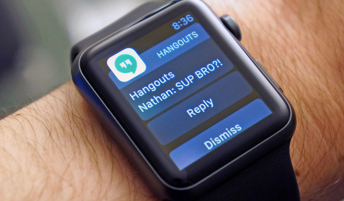 Google Hangouts ook op Apple Watch te gebruiken