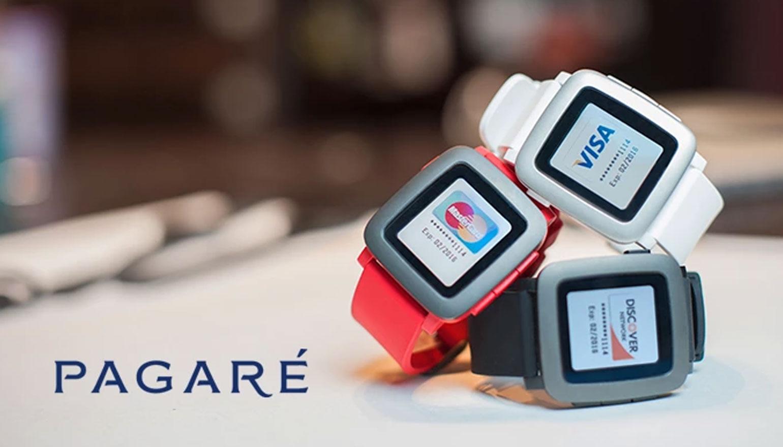 Met Pararé betaal je draadloos met Pebble Time-smartwatches