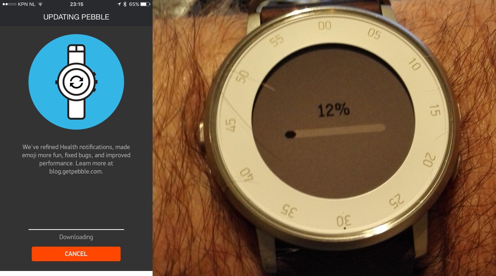 Pebble Time en Time Round krijgen nieuwe functies en emoji's