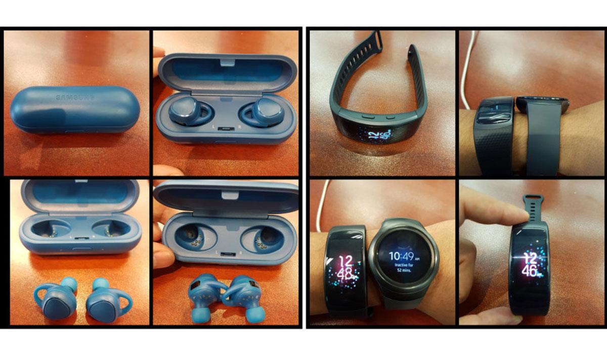 Samsung Gear Fit 2 en Gear IconX al te zien op foto's