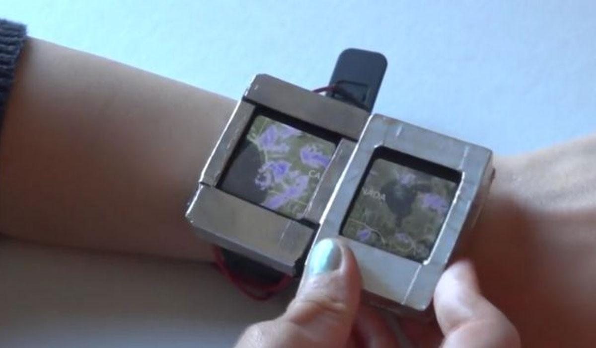 De Doppio is een smartwatch(concept) met twee schermen