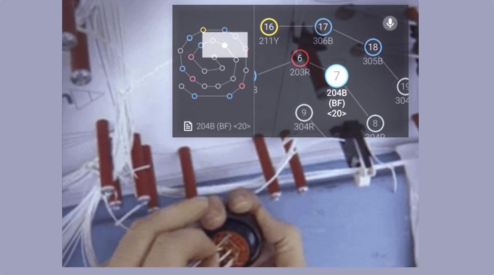Boeing-technici maken vliegtuigen met behulp van Google Glass