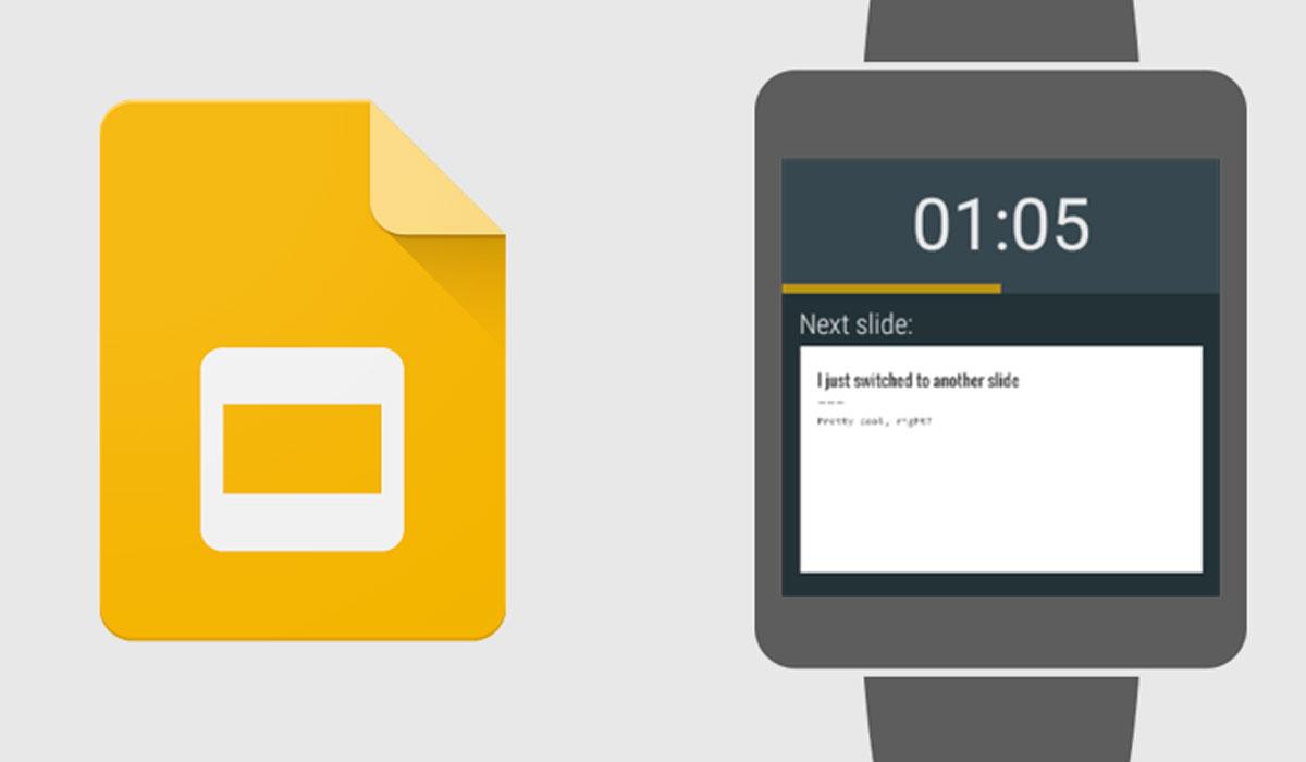 Google Presentaties biedt ondersteuning voor Android Wear aan