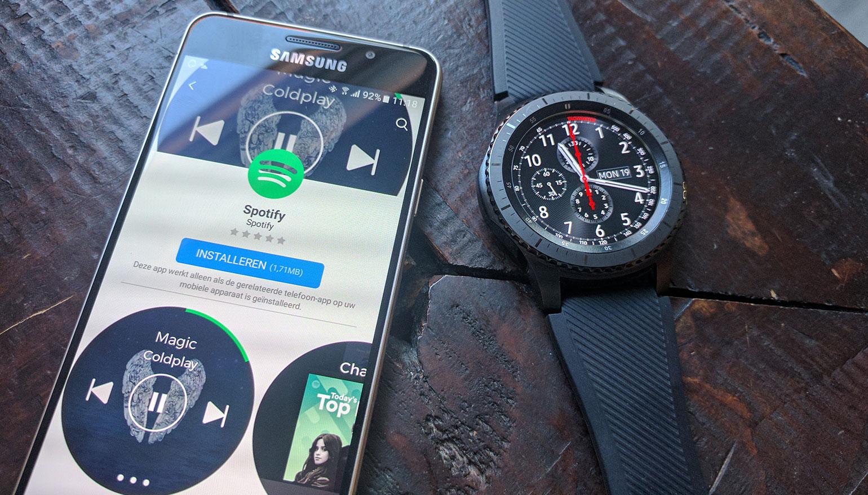 Spotify-app op Samsung Gear S3 wordt voorzien van offline playback