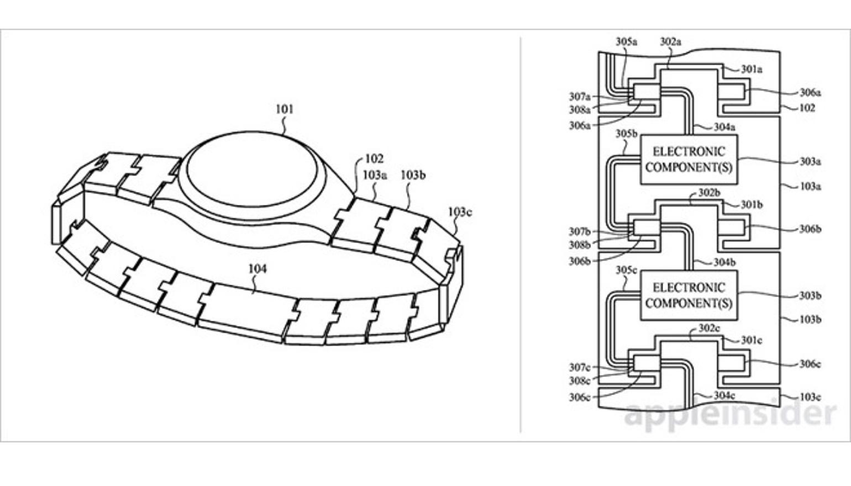 Nieuw Apple Watch-patent stopt slimme functies in de horlogeband