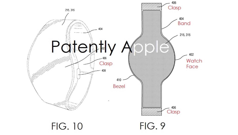 Apple patenteert smartwatch die helemaal bestaat uit flexibel scherm, inclusief de band