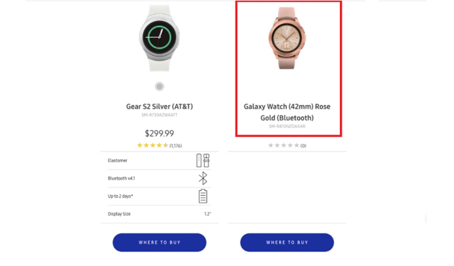 Samsung lekt per ongeluk foto van Galaxy Watch op eigen website