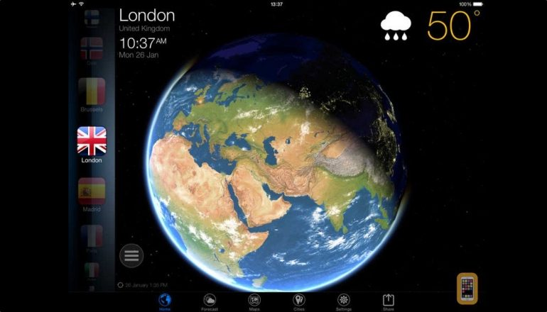 3D Earth - weather forecast and widget