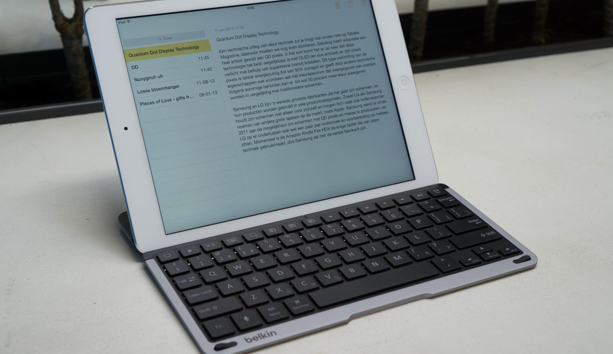Review Belkin Qode Thin Type Toetsenbord Voor Ipad Air