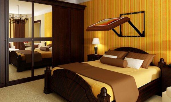Flip-Out wandbeugel maakt tv kijken in bed een stuk comfortabeler ...