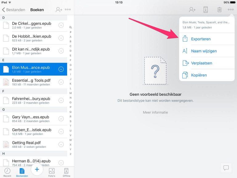 iBooks Dropbox