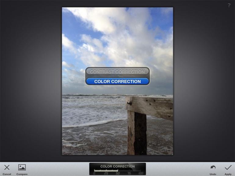 Foto's bewerken op iPad apps Snapseed