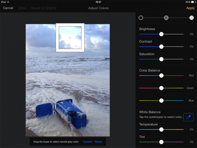 Foto's bewerken op iPad apps Pixelmator