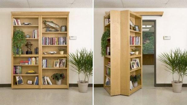 boekenkast als geheime deur