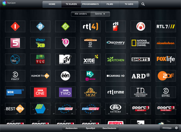 Horizon watch TV channels Live TV on your tablet: the possibilities per provider