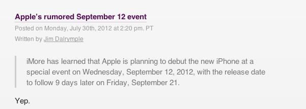 iPad Mini 12 september
