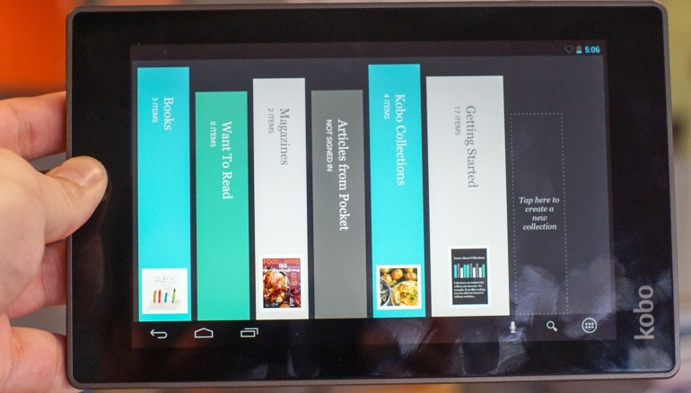 Kobo-Arc-7HD-review-software