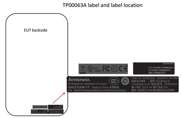 Lenovo ThinkPad Lenovo ThinkPad fcc 8 8 tablet spotted at the FCC