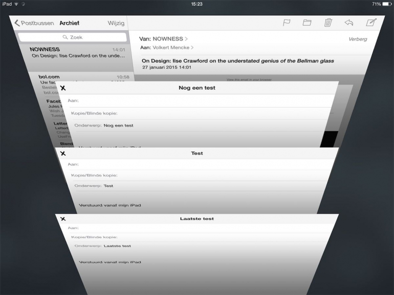 Mail app drafts
