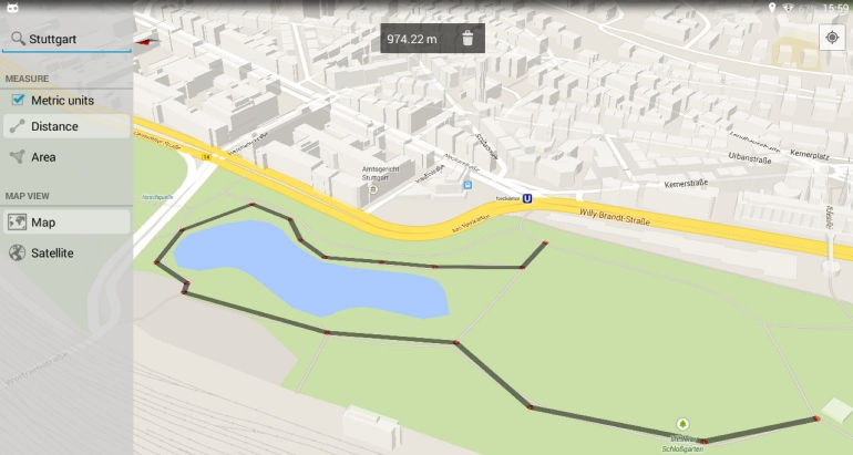 Maps-Measure-Android-app
