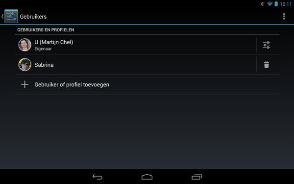 Add notification profile Create users and create profiles on your Android tablet