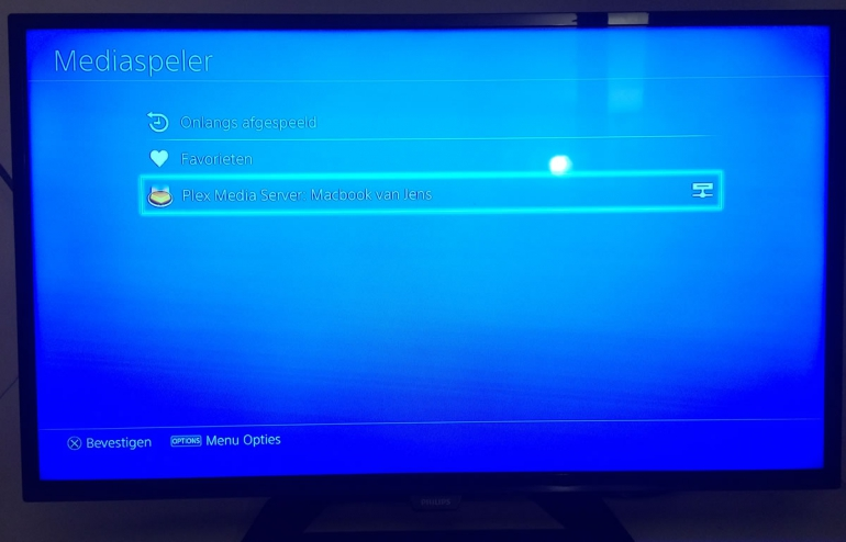 PlayStation 4 Plex mediaspeler streamen DLNA