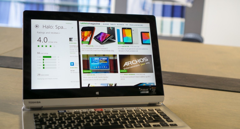 Review-Toshiba Satellite Click 2 Pro P30W-software