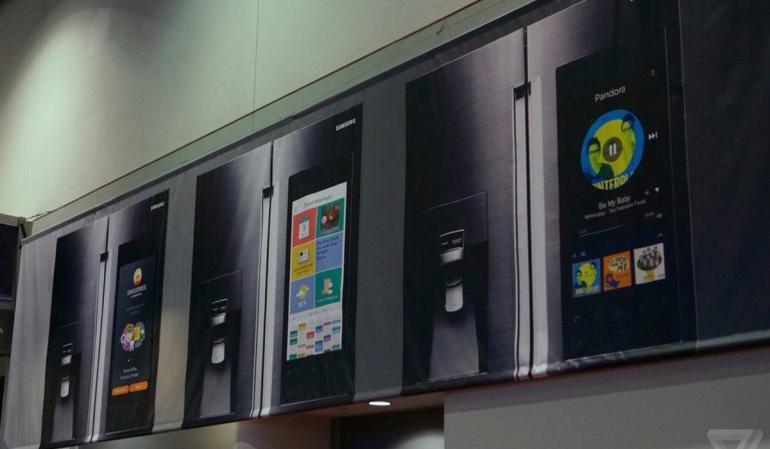 Samsung koelkast met groot touchscreen