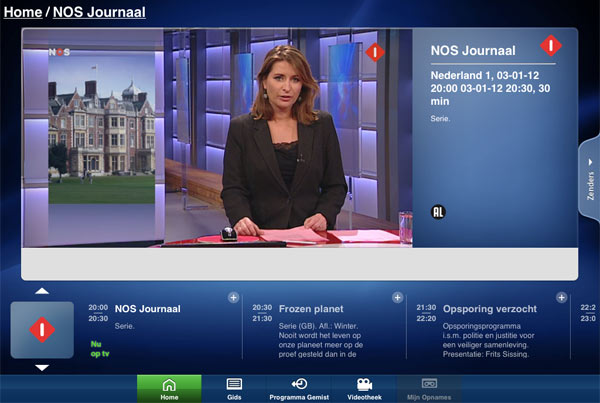 Telfort watch Live TV on your tablet tablet: the possibilities per provider
