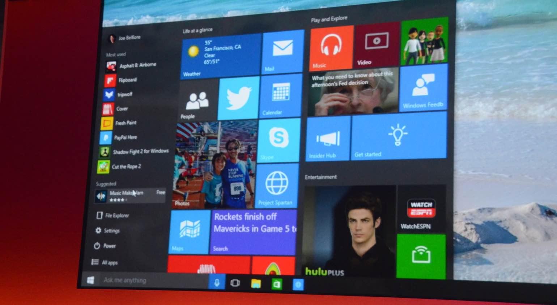 Windows-10-startmenu