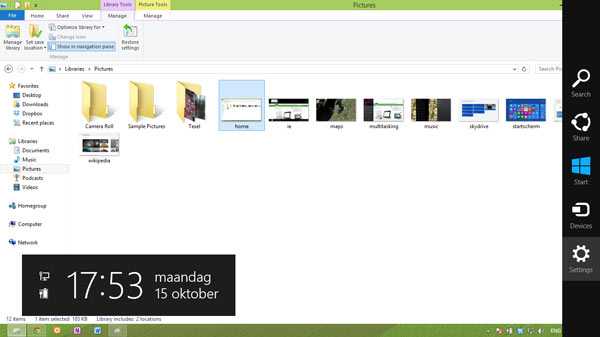 Windows 8 desktop verkenner