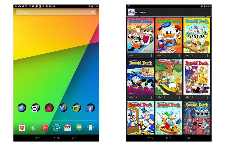 Arvid's Homescreen en Donald Duck collectie