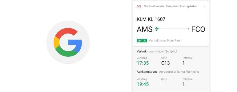 google now vluchtinformatie