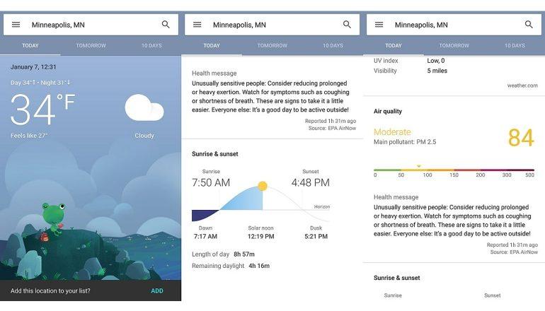 google-weerkaarten