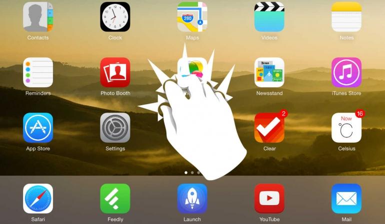 iPad gestures pinch to homescreen