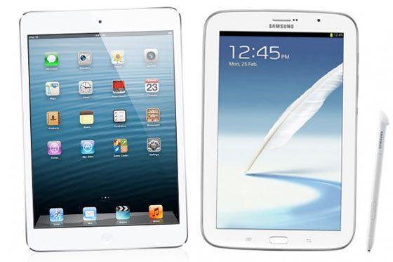 iPad mini 0Video Galaxy Note 8: Comparison iPad Mini and Samsung Galaxy Note 8.0