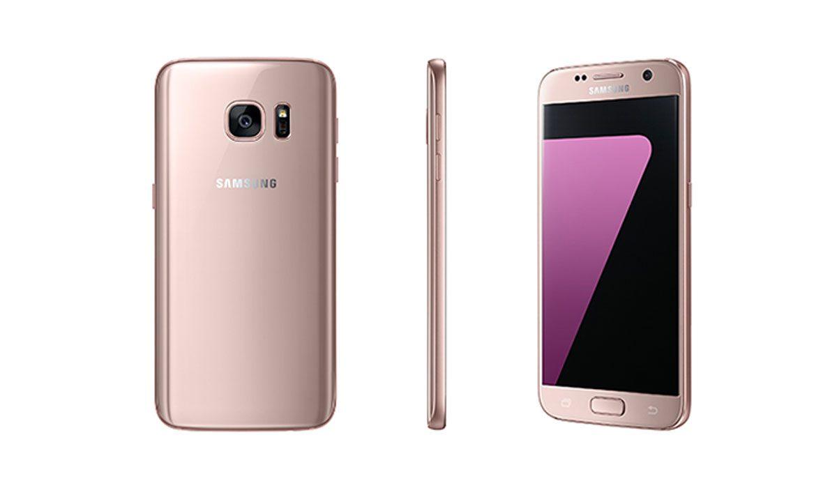 Roségouden Samsung Galaxy S7 Edge in Nederland