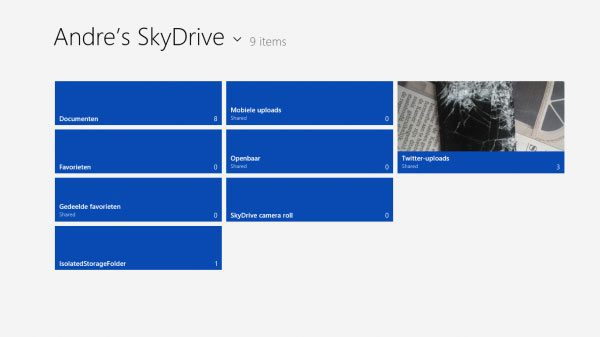 Windows 8 SkyDrive
