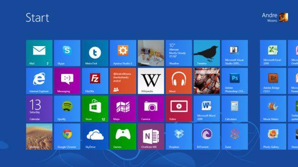 Windows 8 live tiles