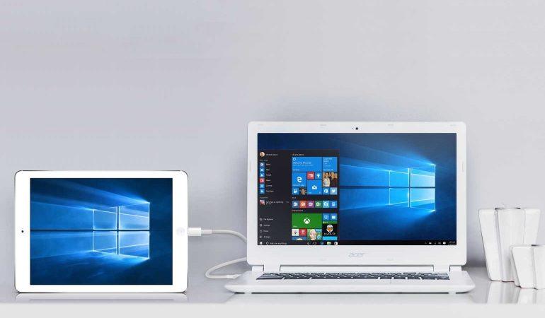 windows met ipad tweede scherm